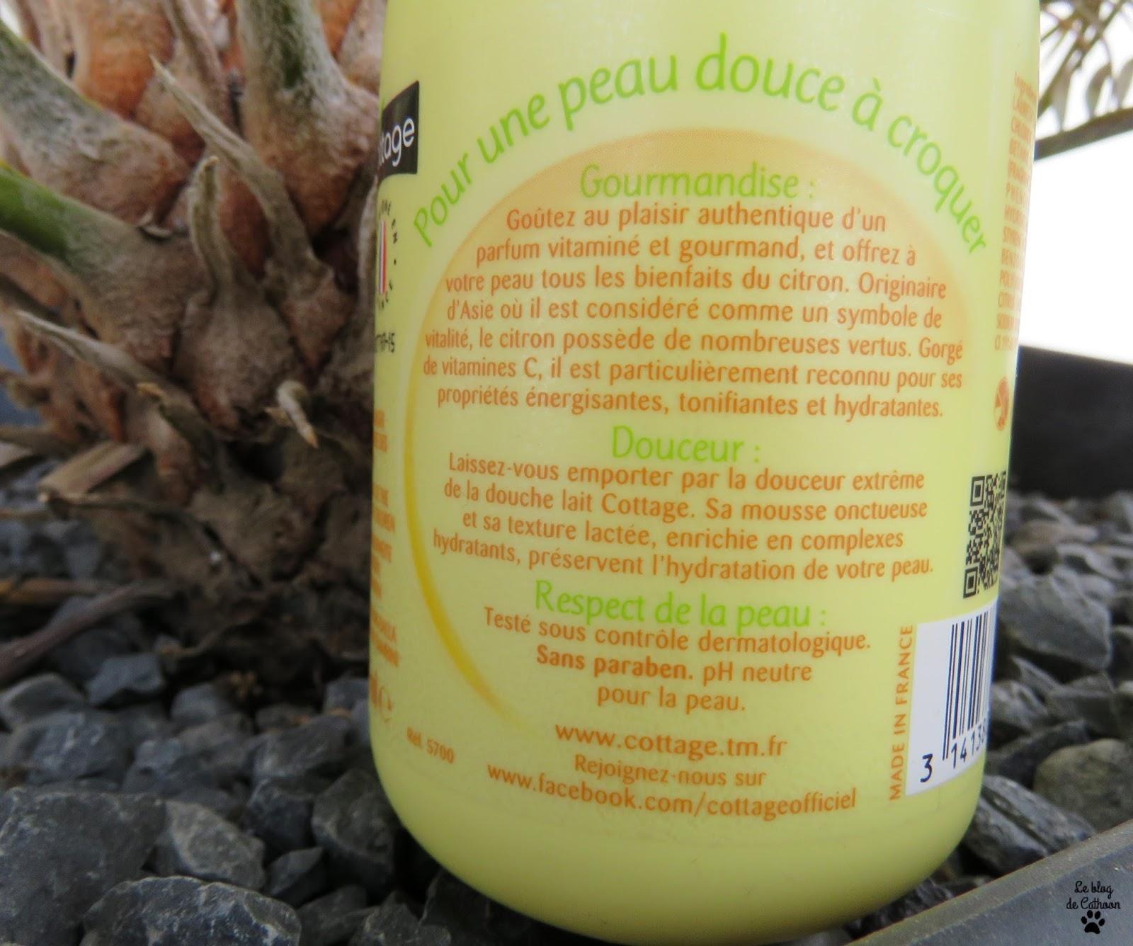 Citron Gourmand - Douche Lait Hydratant - Cottage