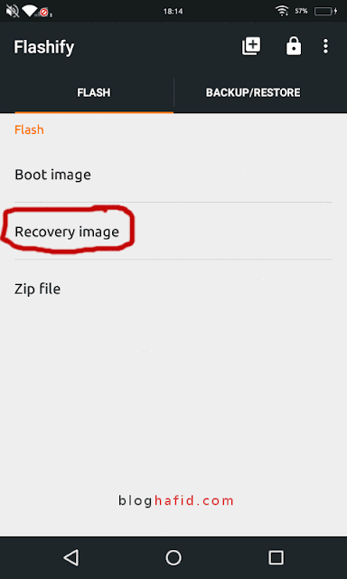 Recovery image flashify
