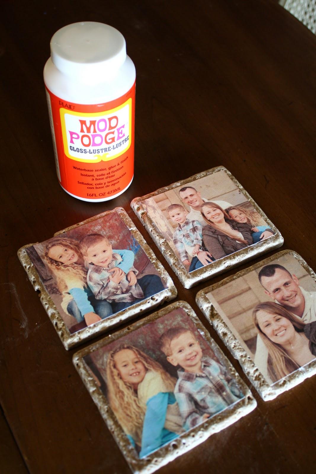 DIY Photo Tile Coasters - A Diamond in the Stuff