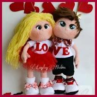 Muñecos enamorados amigurumi