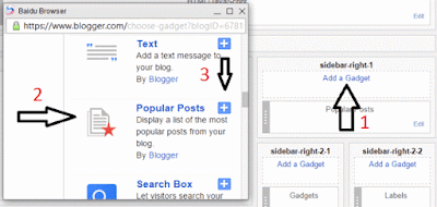 Adding popular post widget in blogger-2