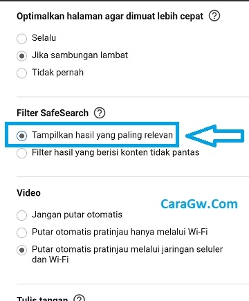 Cara menampilkan konten porno (18+) di hasil pencarian Google