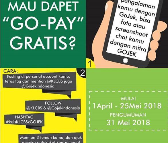Gopay Gojek: Kuis Gojek 2018 Free Go Pay