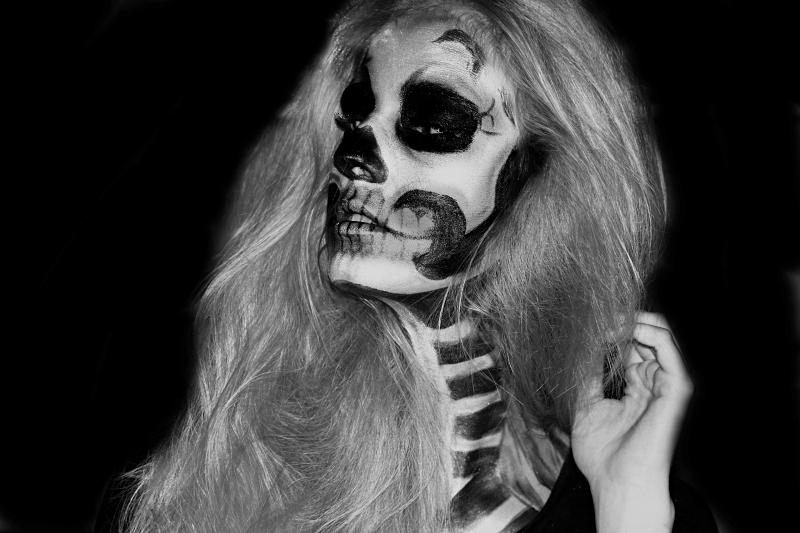 halloween skull makeup tutorial. Black Bedroom Furniture Sets. Home Design Ideas
