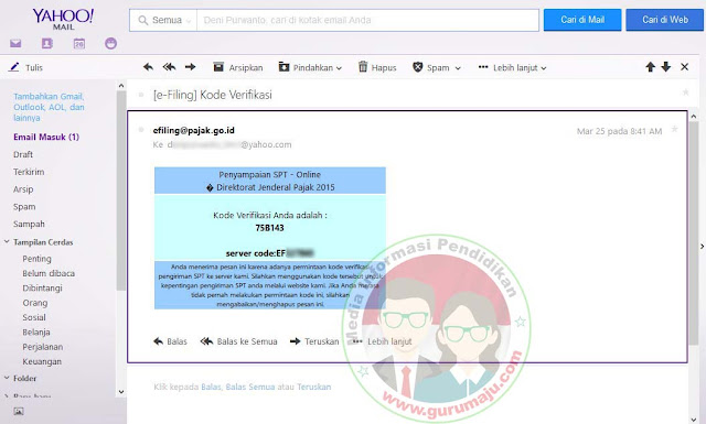 Lihat Email untuk mengetahui Token diberikan
