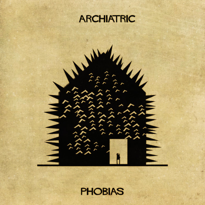 16 Mental Disorders Illustrated Through Architecture - Phobias