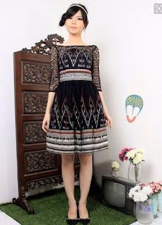 Model baju batik pesta modis