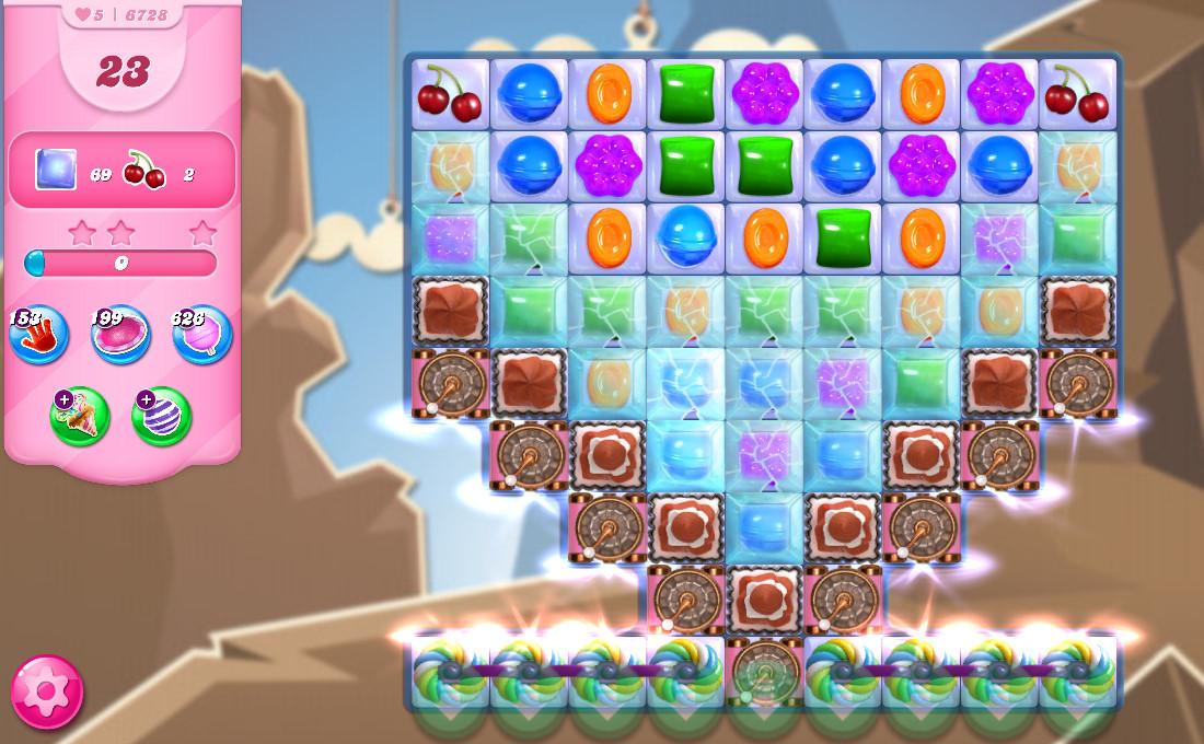 Candy Crush Saga level 6728