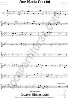 Violin Sheet Music Ave Maria by Caccini  Classical Music Scores