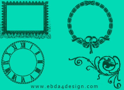 تحميل فرش إطارات مزخرفة للفوتوشوب مجاناً, Photoshop Brushs free Download, Decorative Frames Photoshop Brushs free Download