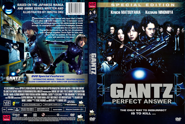 Capa DVD Gantz Perfect Answer