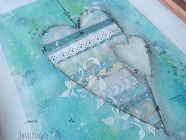 serce w kolorze turkusowym