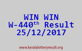 WIN WIN Lottery W 440 Results 25-12-2017