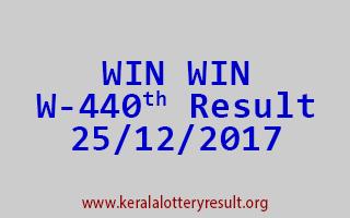 WIN WIN Lottery W 440 Results 25-12-2017