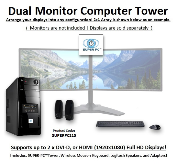 2 Monitor Computer System