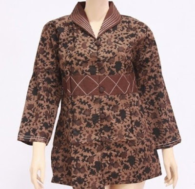 Model Baju Batik Atasan Untuk Perempuan Terbaru