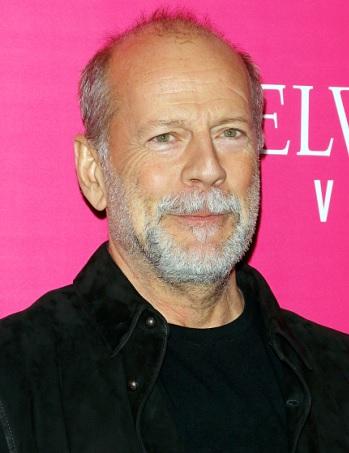Foto de Bruce Willis con canas