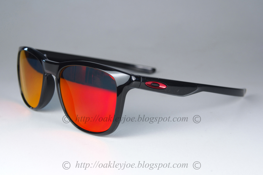 9ab8ab1821 OO9340-02 Trillbe X polished black + ruby iridium  195 lens pre coated with  Oakley hydrophobic nano solution complete set comes with box and microfiber  ...