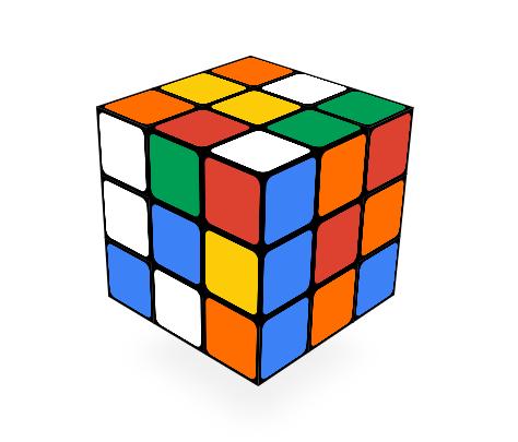 Screenshot: Google Doodle 05-19-2014 Rubiks Cube