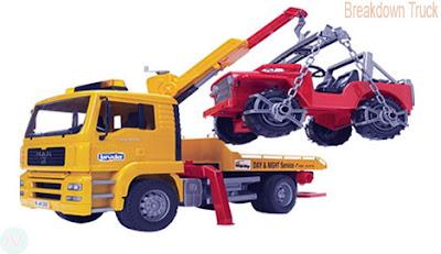 Breakdown truck, tow truck