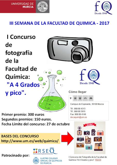 """I Concurso de fotografía de la Facultad de Química: """"A 4 Grados y pico""""."""