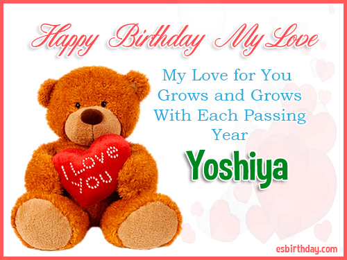 Yoshiya Happy Birthday My Love