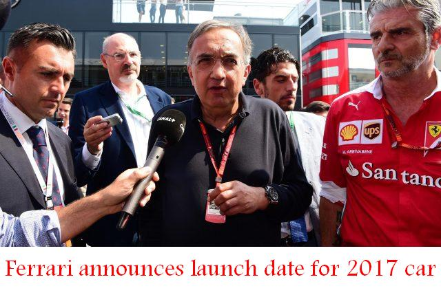 Ferrari announces launch date for 2017 car