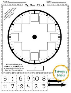Make an analog clock activity