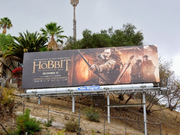 Hobbit 2 Desolation of Smaug Bard the Bowman billboard