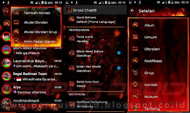 Download BBM Mod Droid Chat! Versi 3.0.0.18 Apk Legend of Fire Terbaru