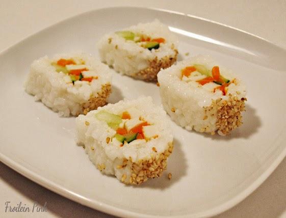 zauberhaftes k chenvergn gen mein erstes sushi so wie ich es mag. Black Bedroom Furniture Sets. Home Design Ideas