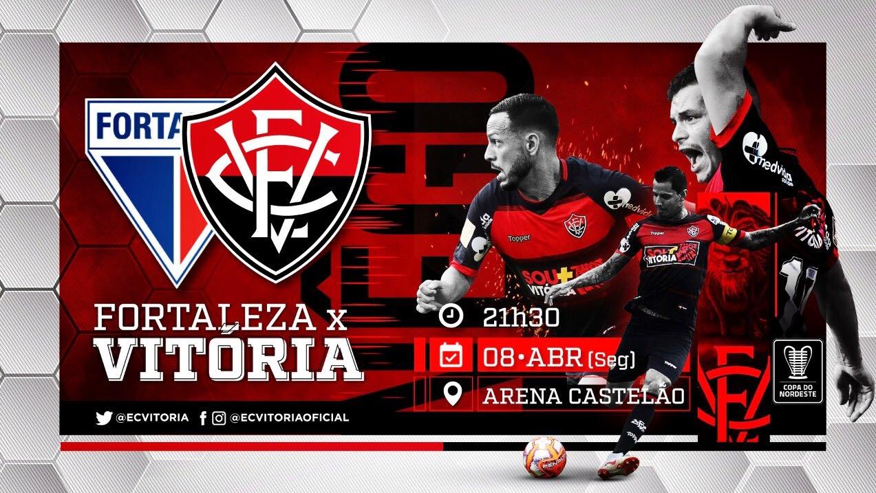 Assistir Fortaleza x Vitória grátis ao vivo HD pela Copa do Nordeste as 21h30min 1
