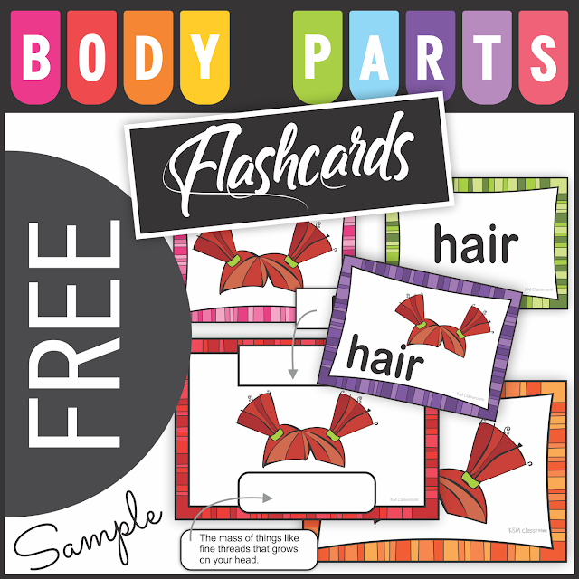 https://www.teacherspayteachers.com/Product/Free-Body-Parts-Flashcards-Sample-2825300