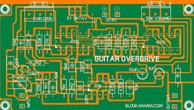 Membuat Guitar Overdrive PCB Saturn