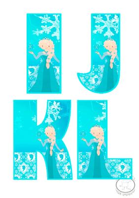 abecedario de frozen para imprimir