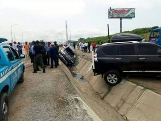 PHOTOS: Scene Of Accident Involving Gov Yahaya Bello's Convoy