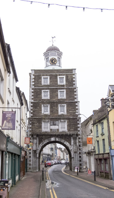 The Youghal Clock Gate Tower in Youghal County Cork spotted on an Irish Road Trip between Dublin and Kinsale