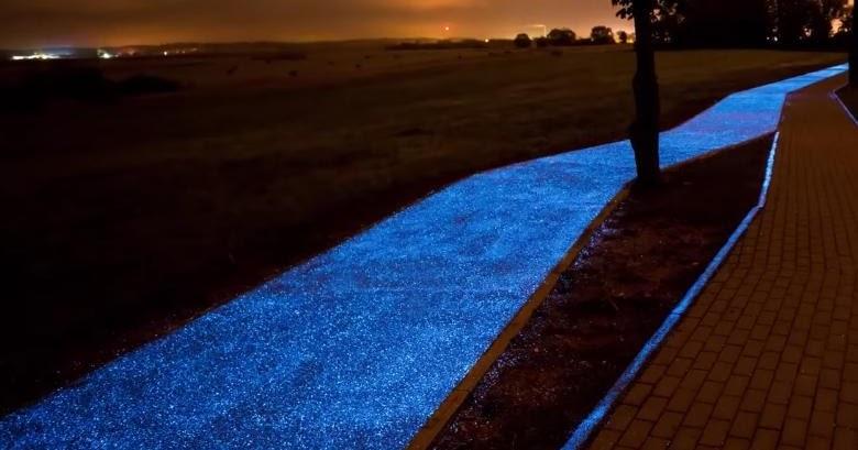 Polonia: la pista solare che si illumina di blu alla notte