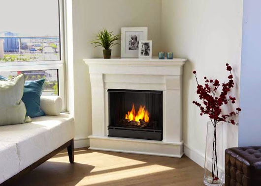Decorating a small living room with a corner fireplace