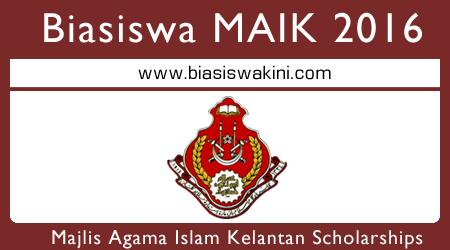 Biasiswa Zakat MAIK Scholarships 2016