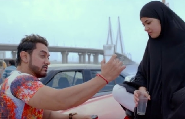 Aamir Khan and Zahira Wasim in Secret Superstar