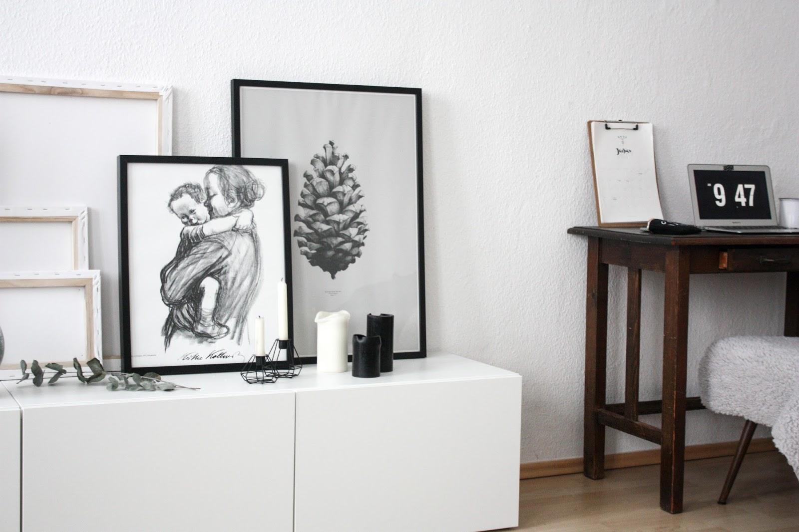 wohnen in schwarz wei. Black Bedroom Furniture Sets. Home Design Ideas