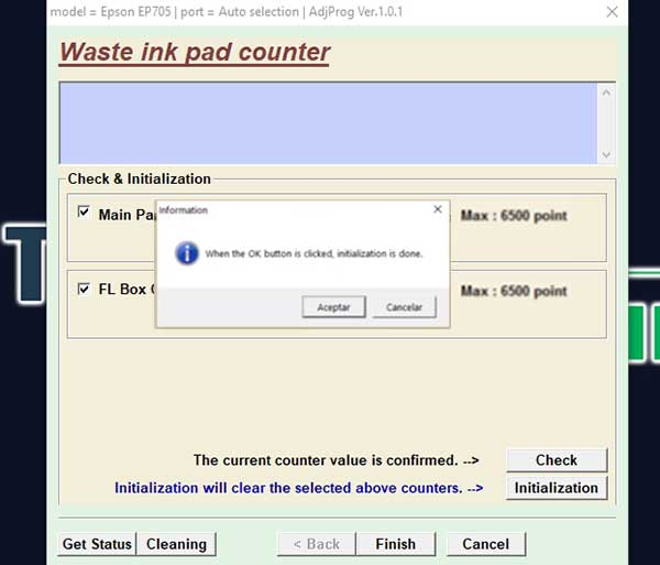 restablecer impresora Espon EP-806AR