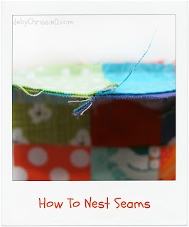 How to Nest Seams by www.madebyChrissieD.com
