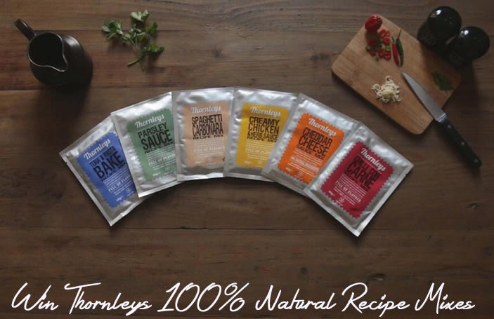 Win Thornleys 100 Percent Natural Recipe Mixes