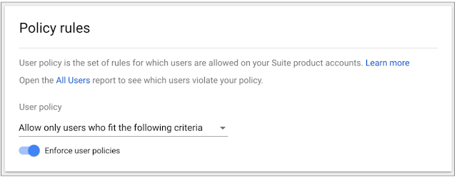 Richer Google Analytics User Management Policy Rules