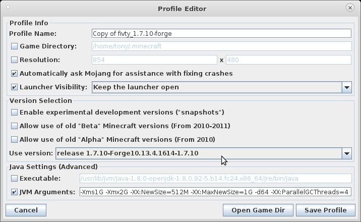 fivty 的 minecraft 世界: minecraft的Java優化參數