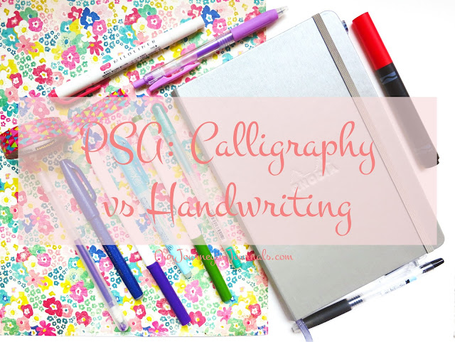 PSA: Calligraphy vs. Handwriting