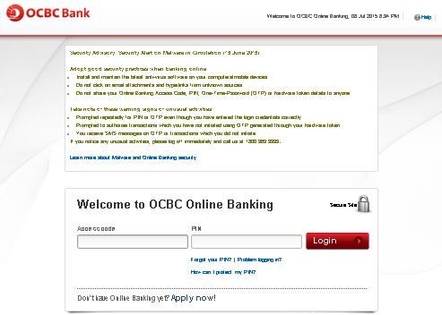 access OCBC Velocity Login