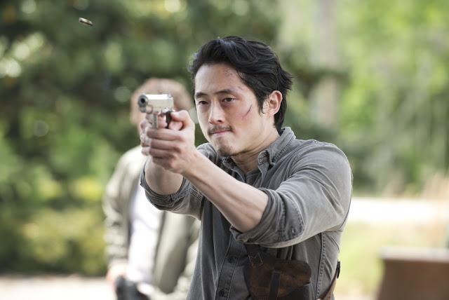 Steven Yeun como Glenn Rhee – The Walking Dead _ sexta temporada, Episode 1 – Photo Credit: Gene Page/AMC